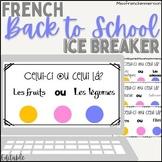 FRENCH icebreaker - Celui-ci ou Celui-là (EDITABLE)