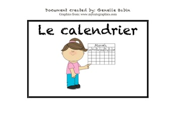 FRENCH immersion schedule/subject cards- menu du jour