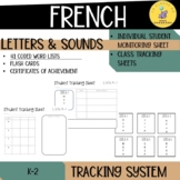 FRENCH letters and sounds tracking system I letters and sounds assessment