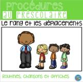 FRENCH line up routine / Rang et les déplacements (affichage et activités)