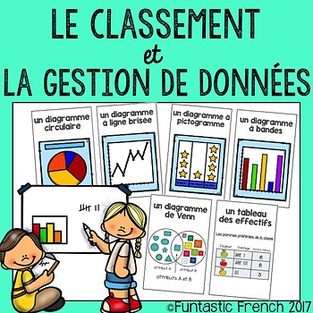 French Data Management Graph posters and word wall (traitement des données)