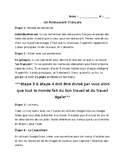 FRENCH menu writing project - Individual and group work (i