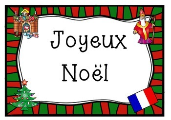 FRENCH  merry christmas poster JOYEUX NOEL