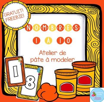FREEBIE numbers Playdough Mats/ Nombres en pâte à modeler