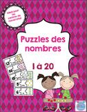 FRENCH number puzzles/Puzzles des nombres français