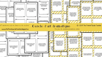Jeu de communication orale : le cercle d'art dramatique