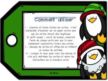 Jeu de communication orale : version Noël
