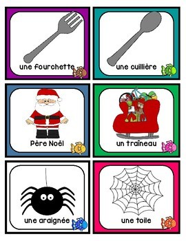 FRENCH partner / group matching cards (les partenaires/les groupes)