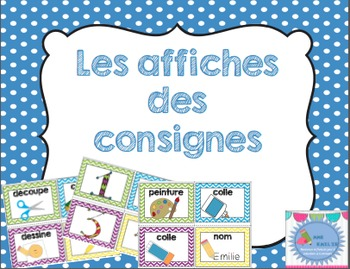 FRENCH pictures direction icons posters/ Affiches des consignes en français