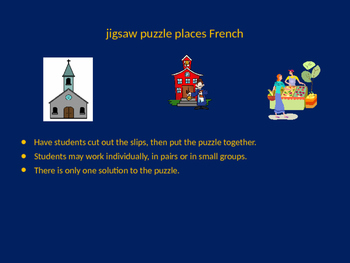 FRENCH places jigsaw puzzle