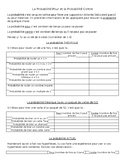 FRENCH probability probabilité grade 6 card and dice game