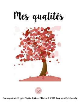 FRENCH qualities - self esteem activity / Activité estime de soi, qualités ECR