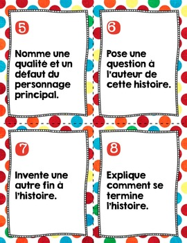 FRENCH read to self center {polka dots} / Centre lecture à soi