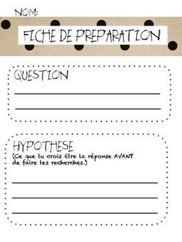FRENCH science oral ou research / Oral ou recherche - question scientifique