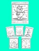 FRENCH winter snowman craftivity +4 color by number & label body parts worksheet