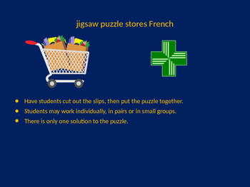 FRENCH stores jigsaw puzzle