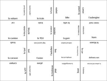 FRENCH transportation jigsaw puzzle