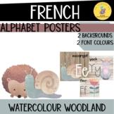 FRENCH watercolour woodland theme alphabet posters I l'alphabet