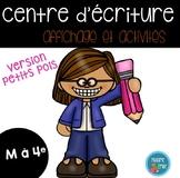 FRENCH writing center {polka dots}/ Centre d'écriture {Petits pois colorés}