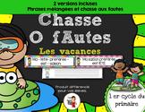FRENCH/ATELIERS /Chasse aux fautes (Les vacances)