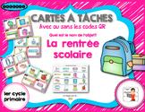 FRENCH/Cartes à tâches (task card)/Retour en classe