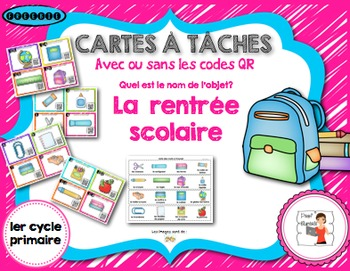 FRENCH/Cartes à tâches (task card)/Retour en classe