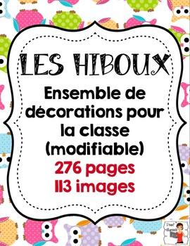 FRENCH/Classroom decor pack/Les hiboux (ensemble complet)