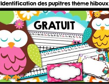 Les hiboux (identification pupitres) - GRATUIT- FREEBIE