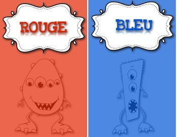 FRENCH/Classroom decor pack/Les monstres (affiches couleurs)