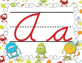 FRENCH/Classroom decor pack/Les monstres (alphabet poster