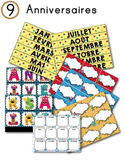FRENCH/Classroom decor pack/Les monstres (anniversaires)