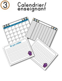 FRENCH/Classroom decor pack/Les monstres (calendrier/enseignant)