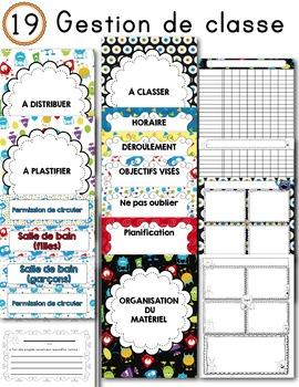 FRENCH/Classroom decor pack/Les monstres (gestion de classe/planification)