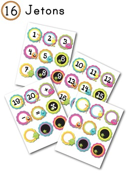 FRENCH/Classroom decor pack/Les monstres (jetons)