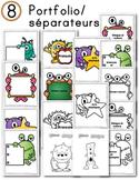 FRENCH/Classroom decor pack/Les monstres (portfolio/séparateurs)