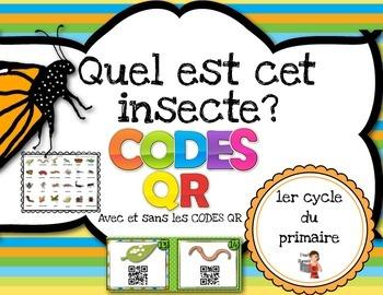 Les insectes avec Codes QR IPAD