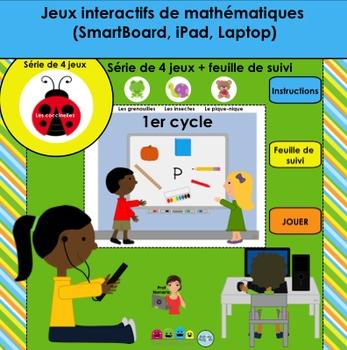 Activité TNI - Jeux interactifs de mathématiques/Les coccinelles (1er cycle)