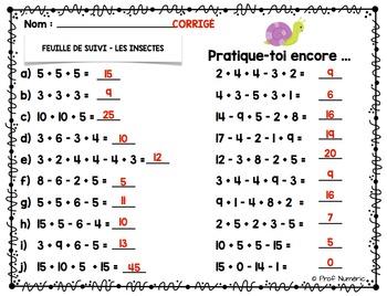 Activité TNI - Jeux interactifs de mathématiques/Les insectes (1er cycle)