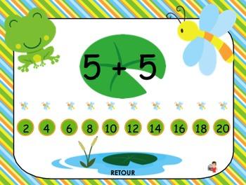 Activité TNI - Jeux interactifs de mathématiques/Les grenouilles (1er cycle)