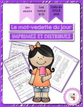 FRENCH/Le mot-vedette du jour (noms G à M)/liste orthographique