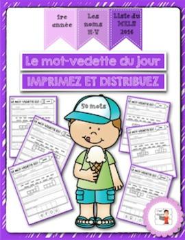 FRENCH/Le mot-vedette du jour (noms N à V) liste orthographique 2014