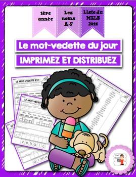 FRENCH/Le mot-vedette du jour (noms A-F)/liste orthographique 2014