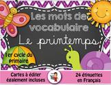 Printemps - Mots de vocabulaire - 24 affiches