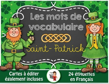 Saint-Patrick//24 mots de vocabulaire