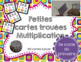 Petites cartes trouées/Les multiplications (auto-correction)