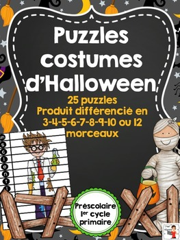 FRENCH/Puzzles des costumes d'Halloween