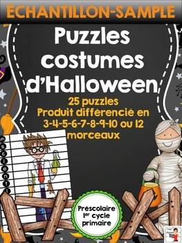 FRENCH/Puzzles des costumes d'Halloween {SAMPLE}
