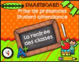 FRENCH/SMARTBOARD/Attendance back to school/Prise de présences retour en classe