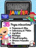 TNI- Calendrier TNI interactif JANVIER (SmartBoard)