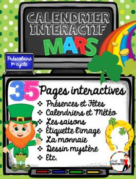 Saint-Patrick - TNI- Calendrier TNI interactif MARS (SmartBoard)